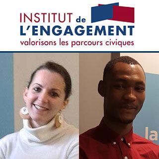 «NOS» VOLONTAIRES DU SERVICE CIVIQUE À L'HONNEUR DE L'INSTITUT DE L'ENGAGEMENT!