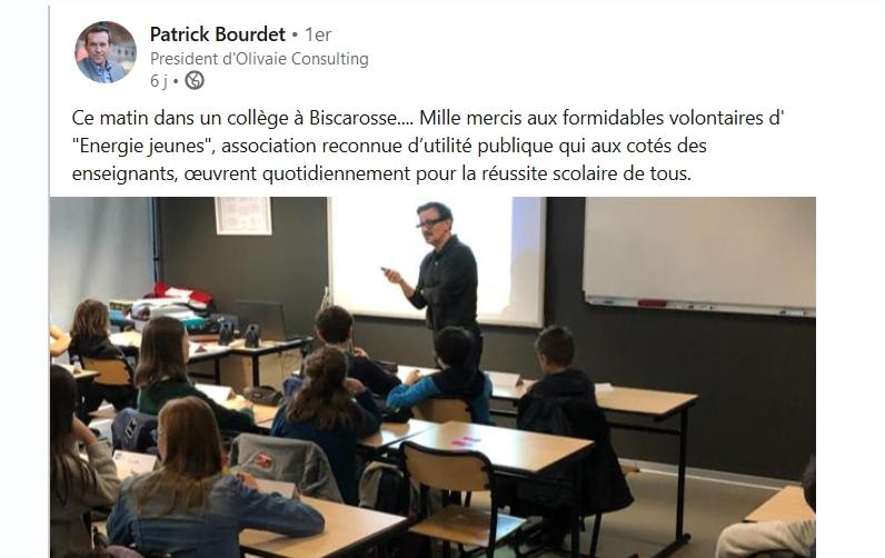 Patrick Bourdet, engagé à nos côtés
